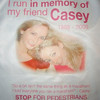 Brooke Runs the NYC Marathon in Casey's Memory - Nov. 7, 2010 : One of Caseys best friends from Fordham University, Brooke Burdge, ran the NYC Marathon on Nov. 7, 2010 in Caseys memory. The proceeds raised through the donations to Brookes race went to Back On My Feet, an organization that supports the homeless. Brooke completed her first marathon (26.2 miles) in an amazing 4 hours and 17 minutes! 