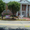 Salem County - Salem, N.J. June 30, 2010 : A pink tree was dedicated to Casey in Salem, N.J. on Market St. near the pedestrian crosswalk directly in front of the  Salem County Courthouse. Casey's Aunt Janice Gallagher filled in for Casey's parents in addressing the crowd who had gathered for the dedication. She was accompanied by Casey's grandmother, Winnie Anderson. Reverand Fields delivered a heartfelt and memorable prayer which was heard by officials from the county Sheriff's office, county freeholders, Salem City Police and local residents who assembled for the dedication.  Various county and local officials also spoke, including Wayne Shelton of the South Jersey Traffic Safety Alliance (SJTSA), who decorated the tree and organized the event.